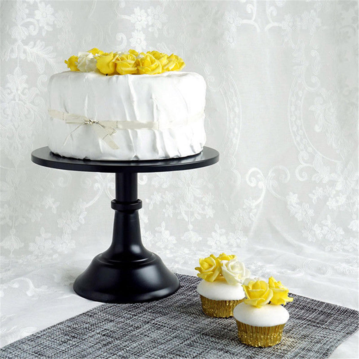 10 Inch Iron Round Cake Stand Pedestal Dessert Holder Display Wedding Party Decorations Cod