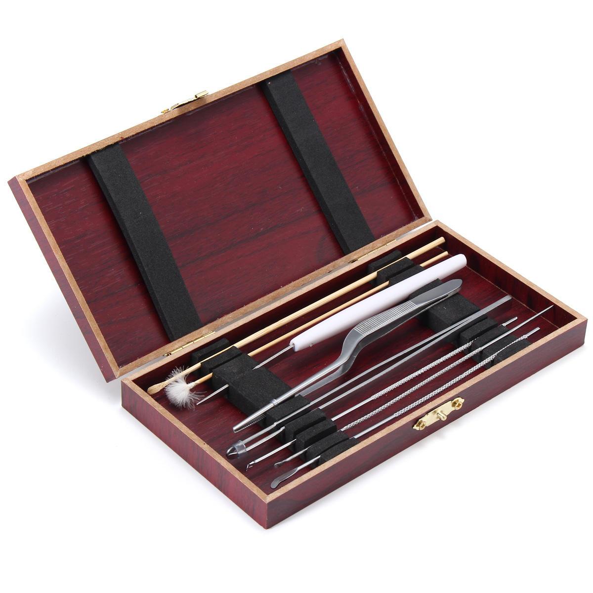 8pcs Stainless Steel Wood Ear Pick Wax Removal Dirt Curette Leaner Kit