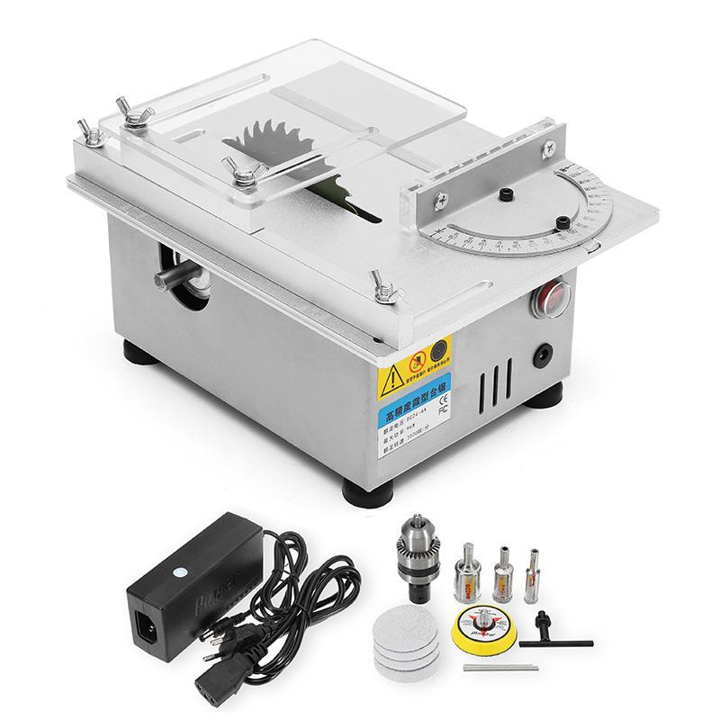Raitool ™ T4 Mini Scie à Table Scie à Bois Scie Électrique Polisseuse Broyeur Scie à Découper DIY
