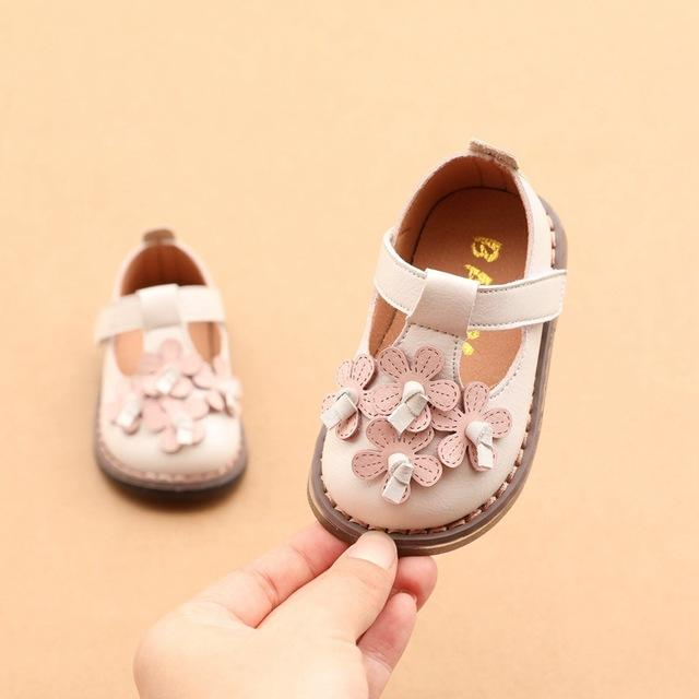 Cui Wei Children's Shoes 6-12 Months Infant Soft Bottom Toddler Shoes 1-2 Years Old Female Baby Single Shoes Little Princess Shoes