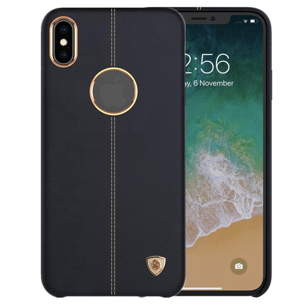 NILLKIN Elegant PU Leather Shockproof Hard PC Back Cover Protective Case for iPhone XS MAX