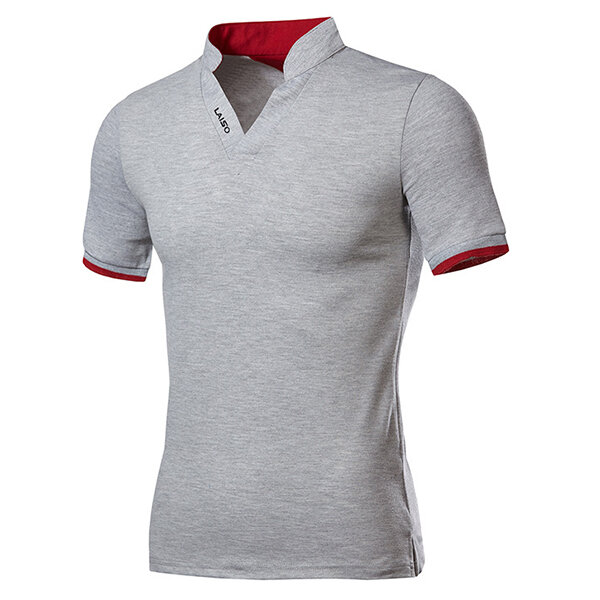 402990cf75470 Banggood Fashion Leisure V-neck Solid Color T-shirts Men's Outdoor Casual  Short Sleeve