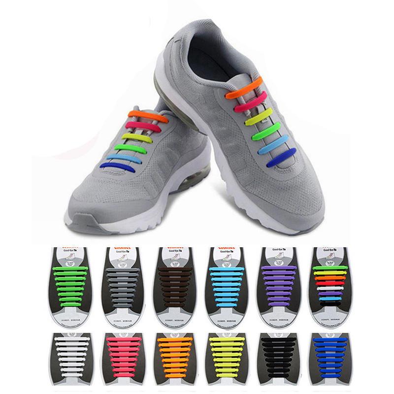 Honana HN-4221 ไม่มี Tie Shoelaces เชือกรองเท้าหลากสีรองเท้ายางยืดซิลิโคน