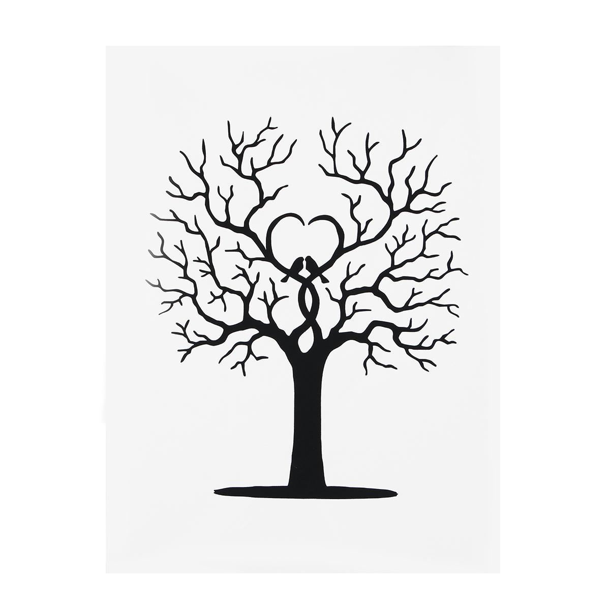 Thumbprint Tree Guest Sign: Fingerprint Thumbprint Diy Tree Wedding Signature Sign