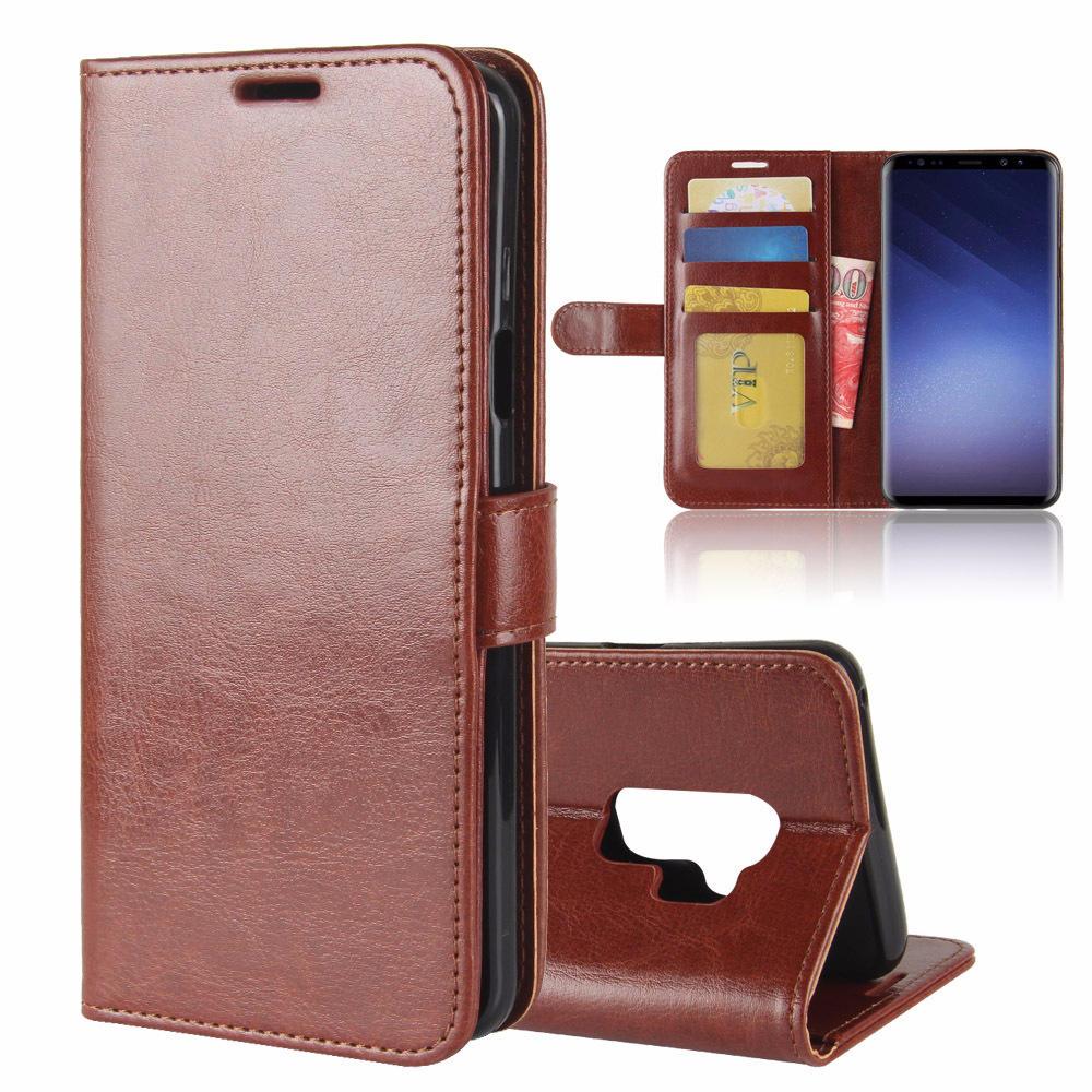 Bakeey Кронштейн для флип-карт Кожа PU Чехол для Samsung Galaxy S9