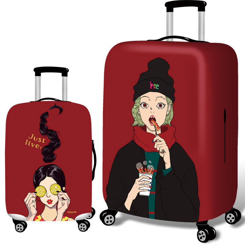 Honana Cool Girls Elastic Luggage Cover Trolley Case Cover Durable Suitcase  Protector for 18-32 Inch Case Warm Travel Accessories COD d8051ff3caaa
