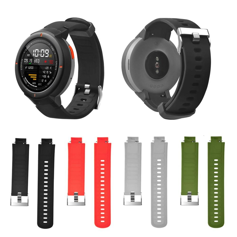 c5049affeb7 Bakeey Soft Silicone Watch Band Replacement Waterproof Watch Strap for  Xiaomi Amazfit Verge COD