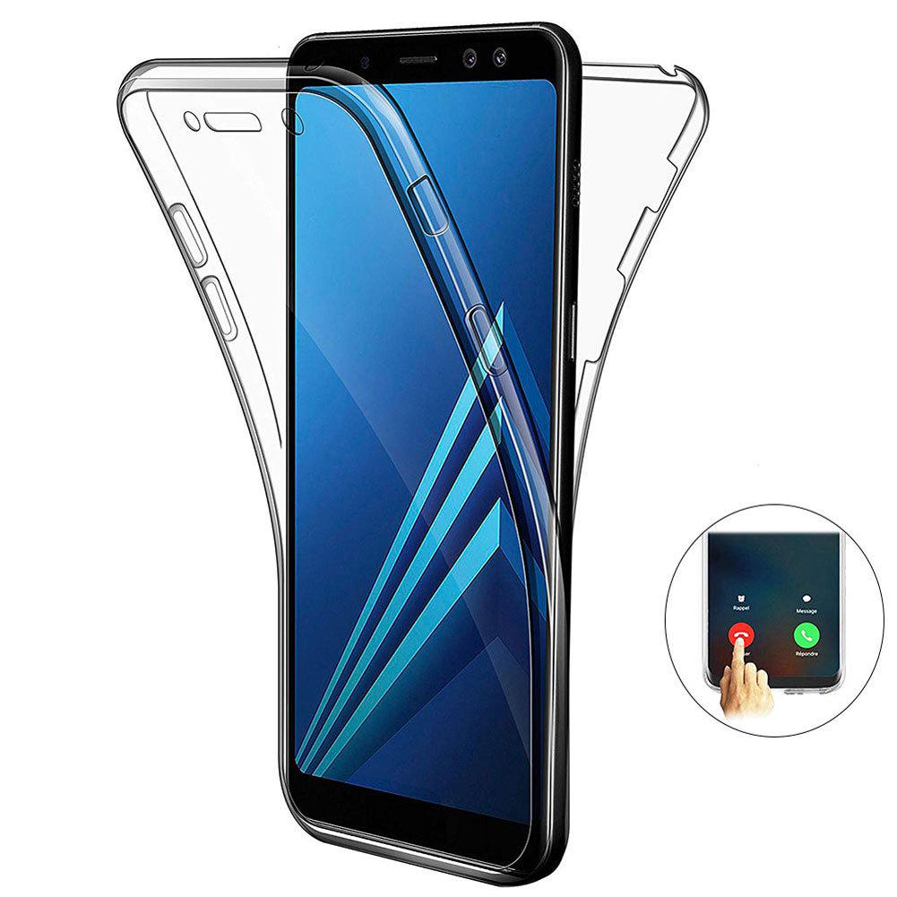 Full Body Clear Touch Screen Protective Case For Samsung Galaxy A9 2018/A7 2018/A8 2018/A8 Plus 2018/A6 2018/A6 Plus 2018