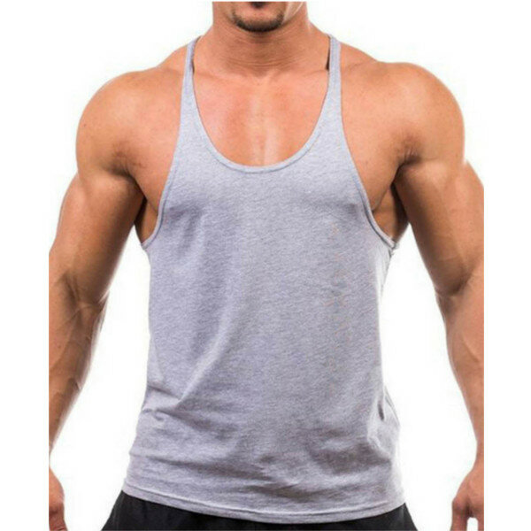 9ff6b2bd17f Men Summer Cotton Plain Gym Tank Top Sleeveless T-shirt Workout  Bodybuilding Singlet COD