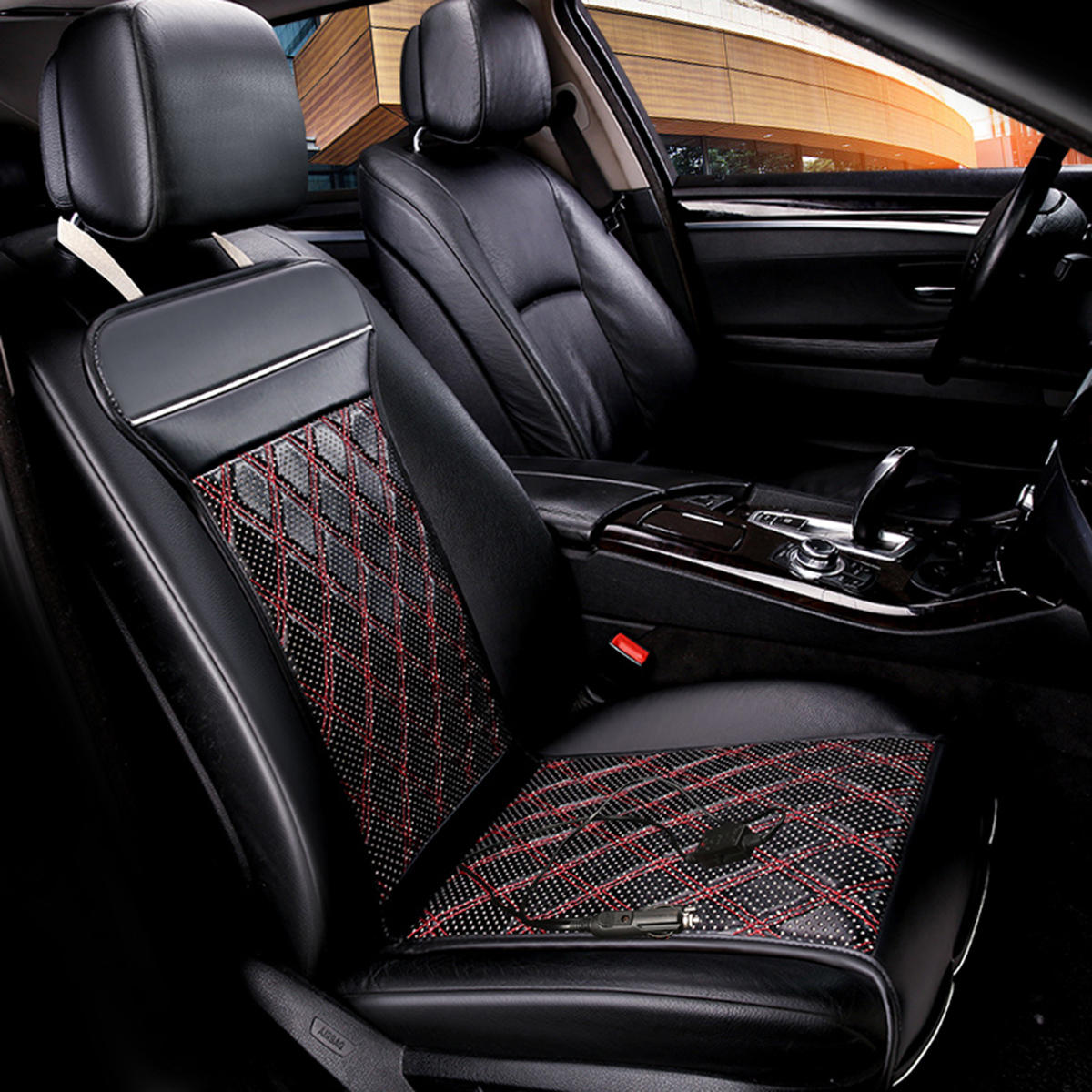 12V Car Heated Seat Cushion Warmer Winter Household Cover Electric Heating Mat Pad
