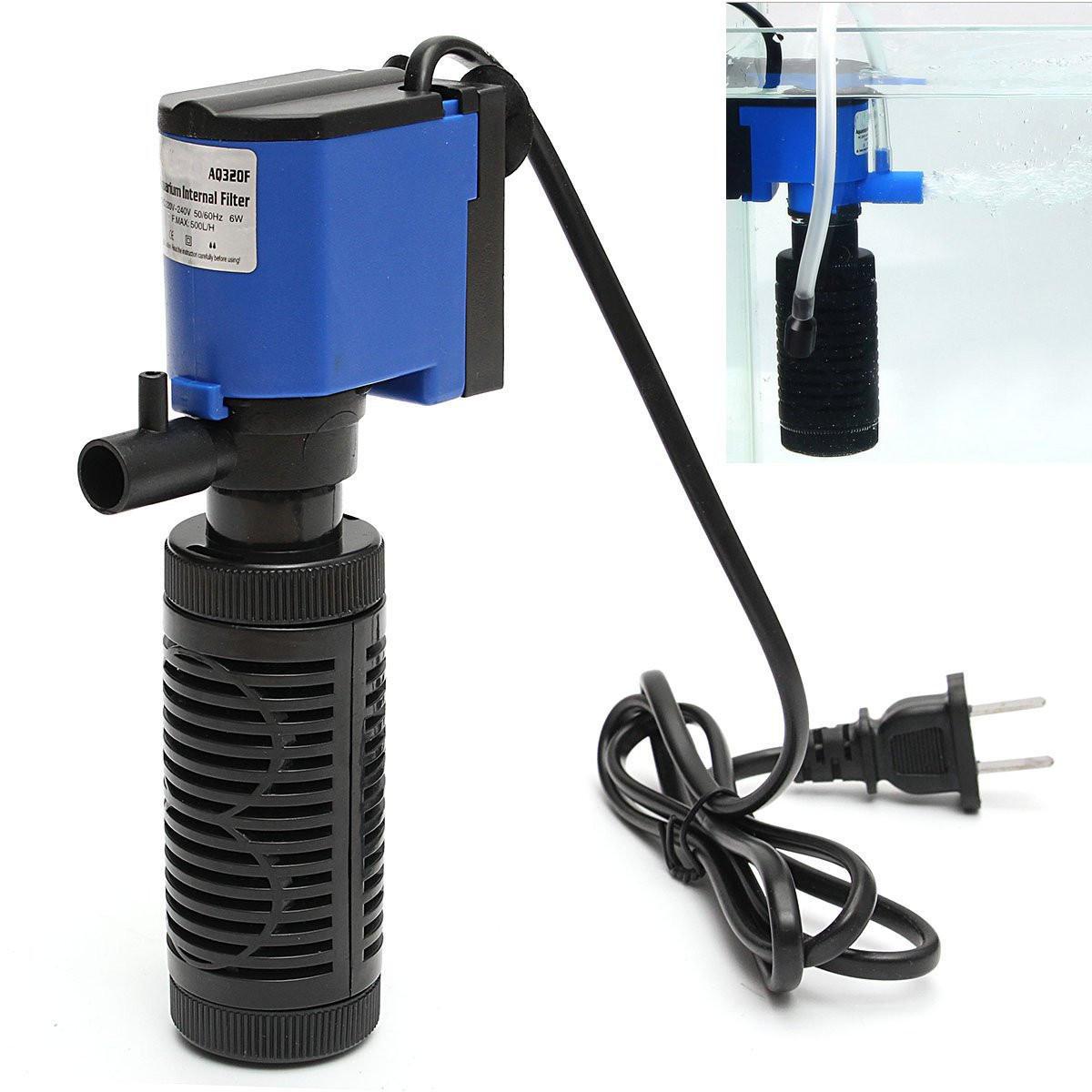 6W 500L H 220V Submersible Water Internal Filter Aquarium Fish Tank Pump Spray