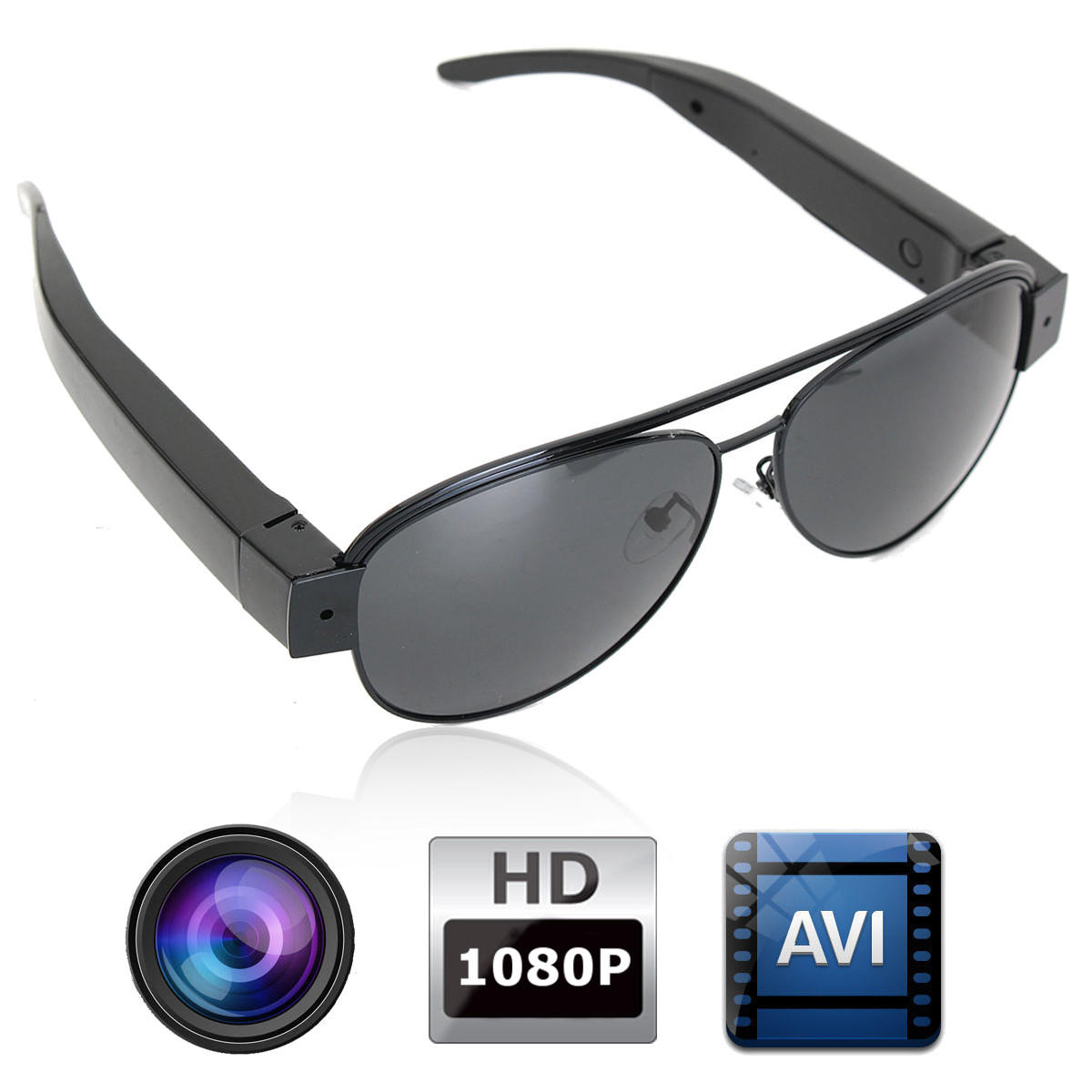 cf86738fec 1080p mini hidden dv dvr video camera camcorder eyewear glasses sunglasses  Sale - Banggood.com sold out