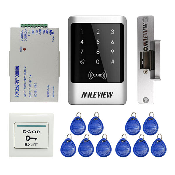 Access Control Kits Free Shipping Full Set With Electric Bolt Lock+keypad+power Supply+exit Switch+keys Door Access Control System Kit Products Hot Sale