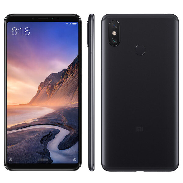 Xiaomi Mi Max 3 Global Version 6.9 inch 4GB RAM 64GB ROM Snapdragon 636 4G Smartphone – Black