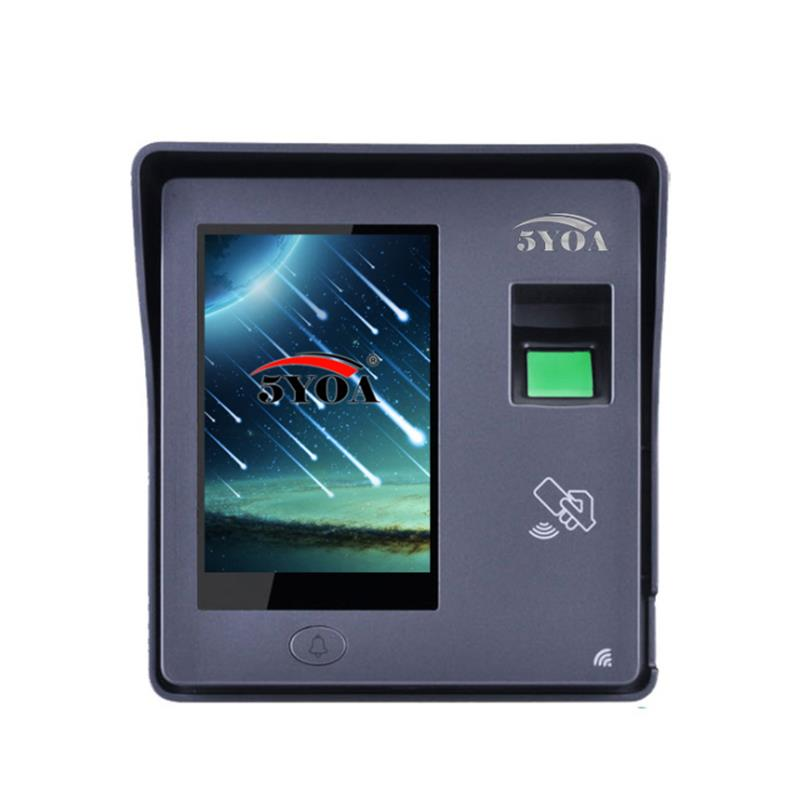 5YOA BM11 Intelligent Fingerprint Password Card Recognition Time Attendance Machine RFID Door Lock Access Control System Employee Checking-in Recorder