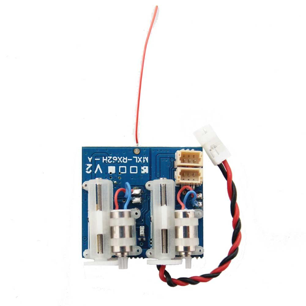 f8d89172d77 Oversky MXL-RX62H V2 Receiver Integrated with Dual Servo for Frsky DSMX  DMS2 FUTABA SFHSS