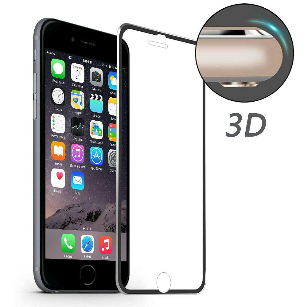 3D Alüminyum Alaşımlı Kenar 9H Temperli Cam Ekran Koruyucu iPhone 7 4.7 Inch için