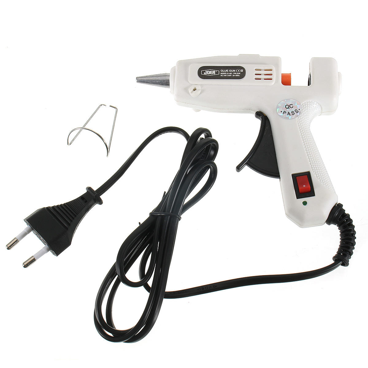 25W Hot Melt Air Glue Gun de alta temperatura Calentador Mini Repair Heat herramienta con 50 piezas de barras de pegamento