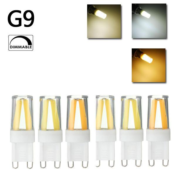 Mini Dimmab G9 LED Silikon Kristall COB Hauptbeleuchtung 360 Grad Glühlampe 110V