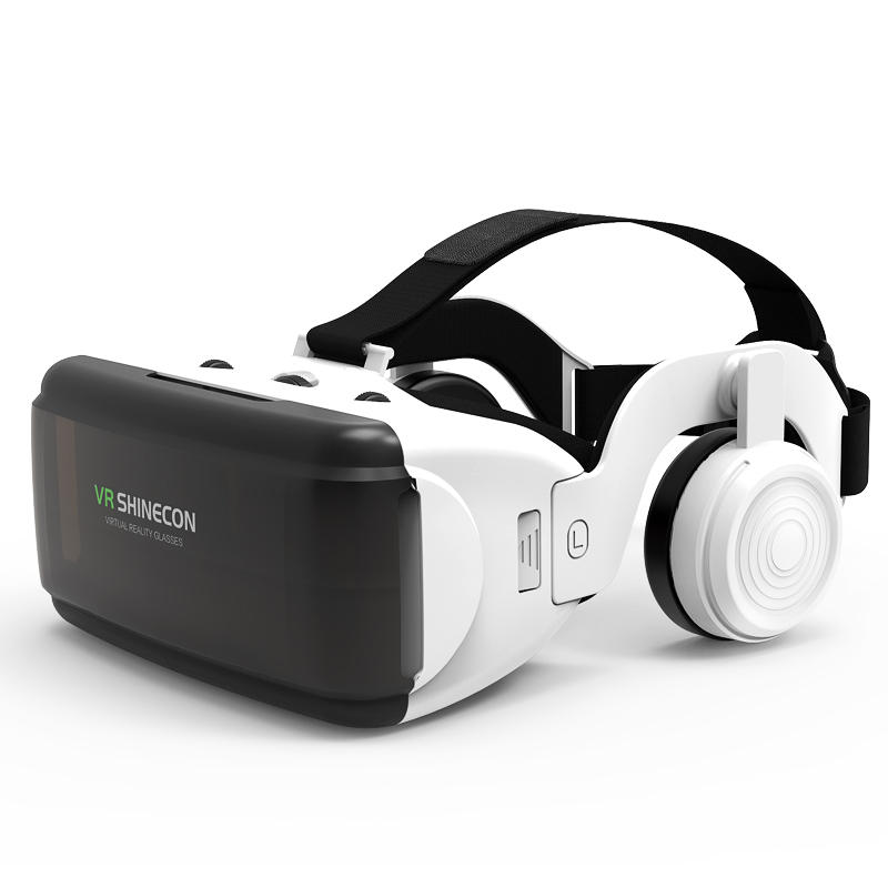 VR Shinecon SC-G06E Box Headset Virtual Reality 3D VR Glasses with Headphone for Mobile Phone