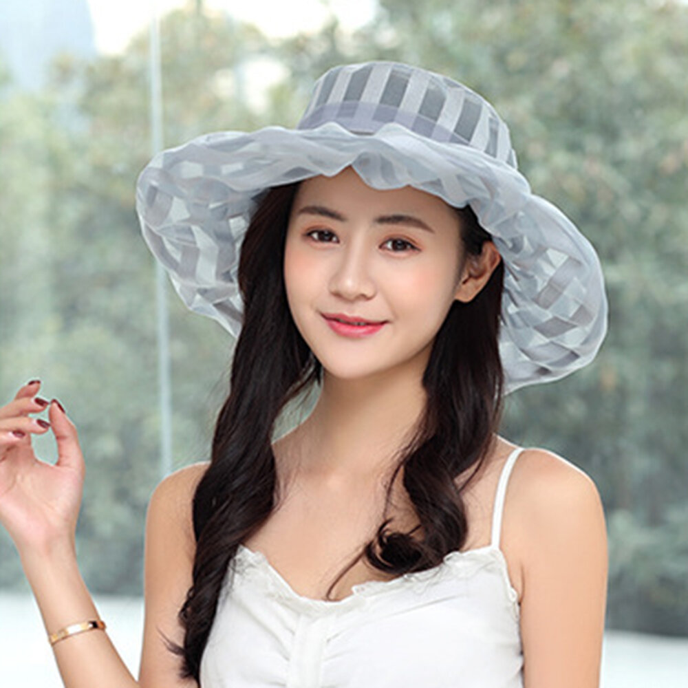 a9617fd8c63a0 Womens Breathable Wide Brim Bucket Hat UV Protection Vacation Beach Visor Sun  Cap - Beige COD