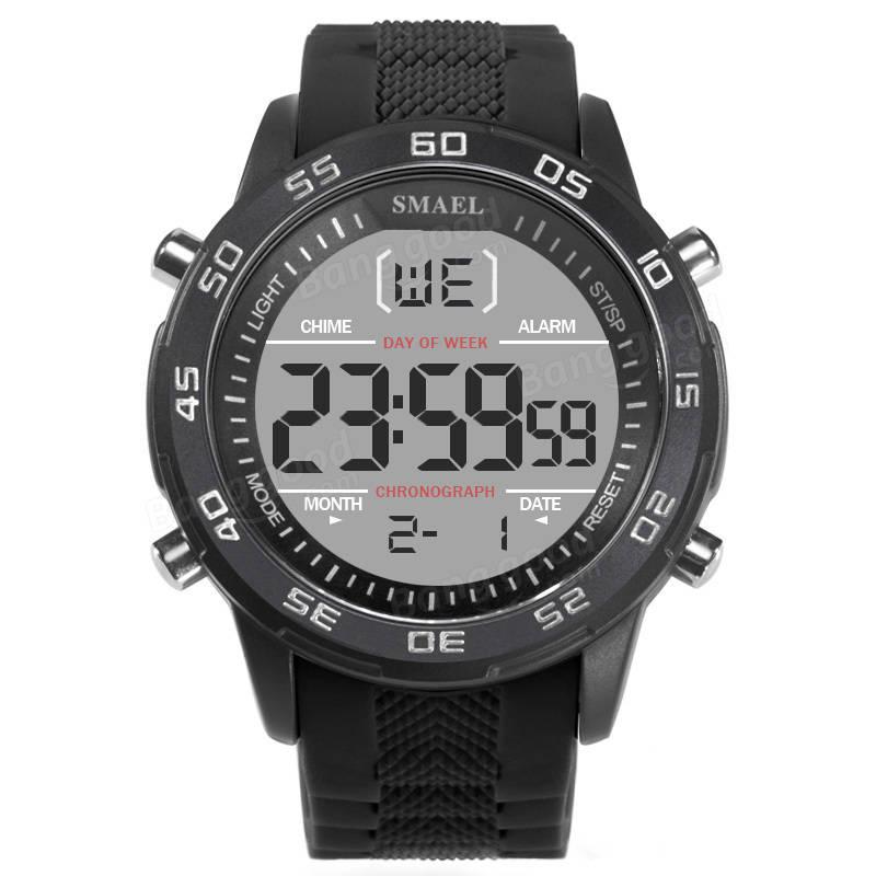 SMAEL 1067 Digital Assistir Sport Cronômetro Alarme impermeável ao ar livre Relógio de pulso