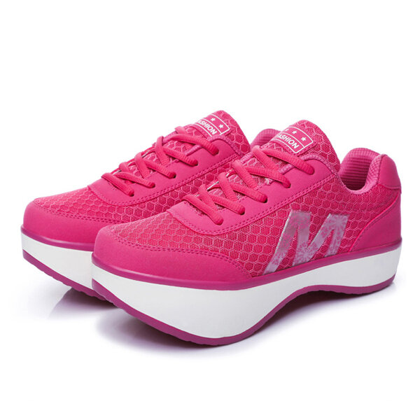 7c138b15908c summer women mesh breathable rocker sole shoes sport running athletic  casual shoes at Banggood sold out