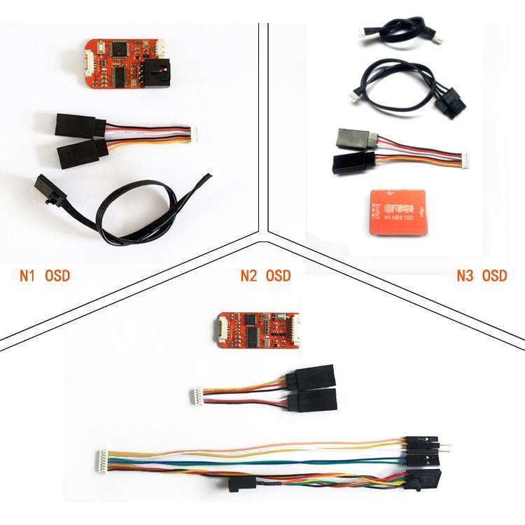 FPV N1/N2/N3 Mini OSD สำหรับ DJI เครื่องควบคุมการบิน Phantom 2 NAZA V1 V2 Lite Remzibi GPS สำหรับ RC โดรน