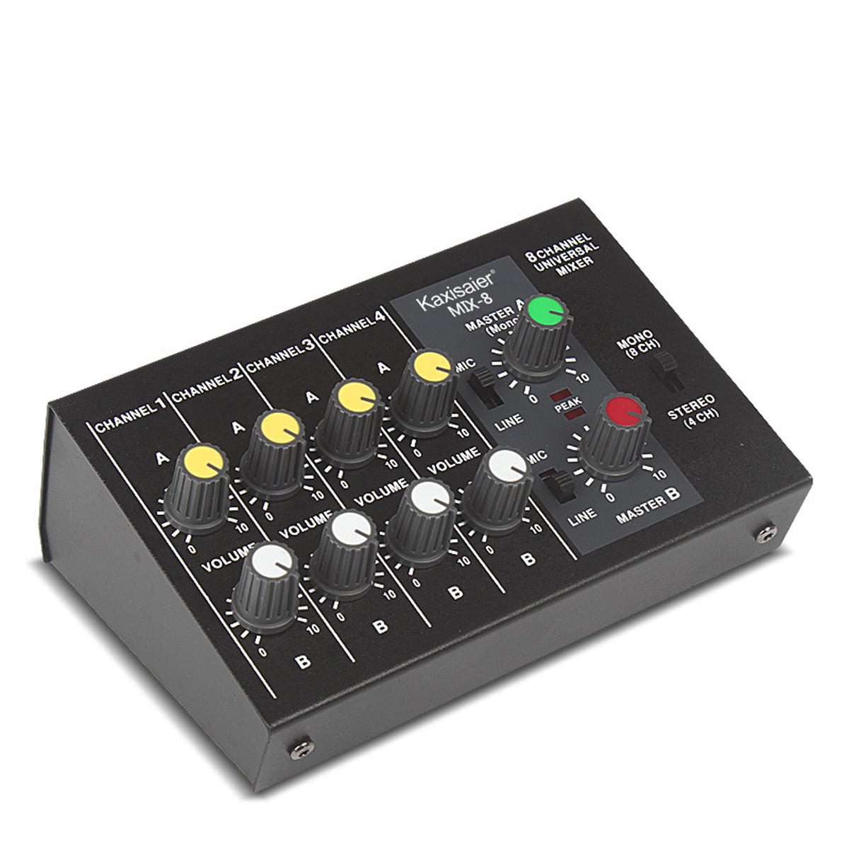 8 Channel 110-220V 6.35mm Dual Mode Audio Mixer Sound Stereo Mixing Home KTV