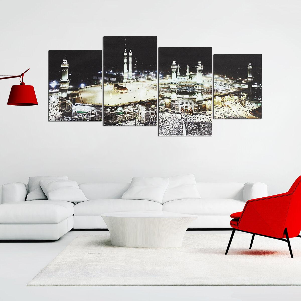 4Pcs Islamic Mecca Kaaba Hajj Poster Wall Art Canvas Print DIY Home Decor  Paintings COD