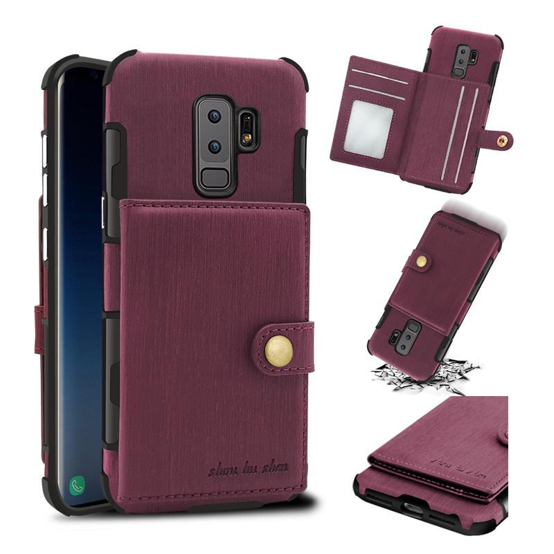 Матовая отделка Винтаж Кошельки для карт памяти Защитные Чехол Для Samsung Galaxy S9/S9 Plus