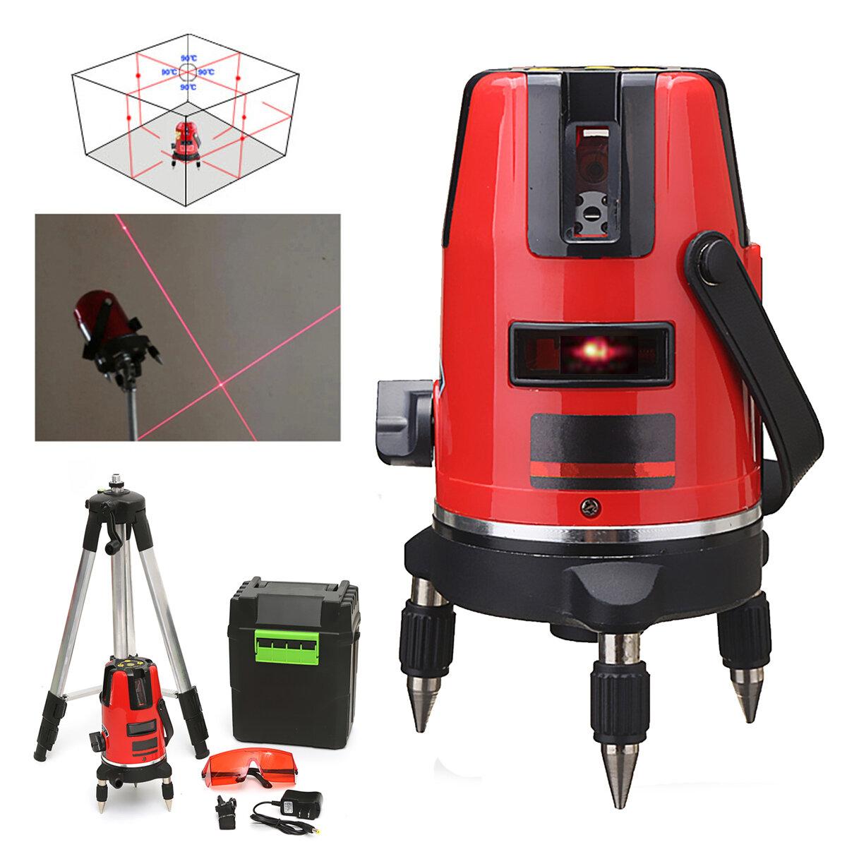 5 Linhas 6 Pontos Profissional Impermeável Nível Laser Vermelho Modo ao Ar  Livre Rotação 360° 3913350f19