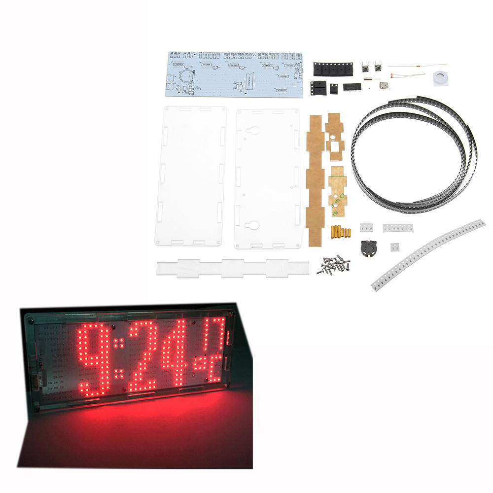 Diy Light Controlled Led Digital Clock Kit With Temperature Display Electronic Circuit Board Time Module