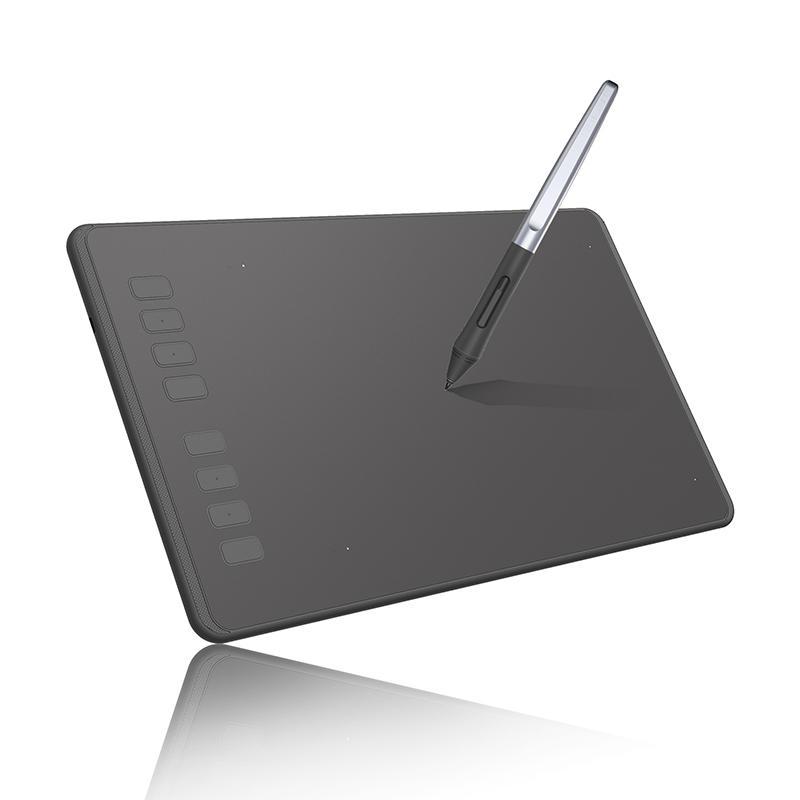 Tableta gráfica de dibujo Huion H950P Tabletas digitales con 8192 niveles Pluma Tablero de dibujo sin batería