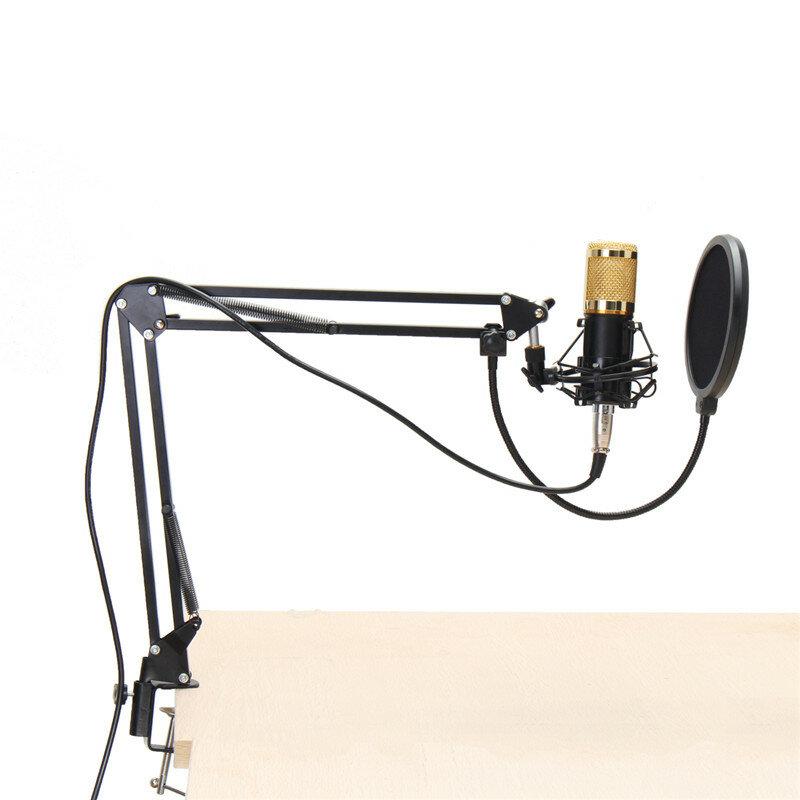 BM800 Condenser Microphone Dynamic System Kit Shock Mount Boom Stand Studio Pro