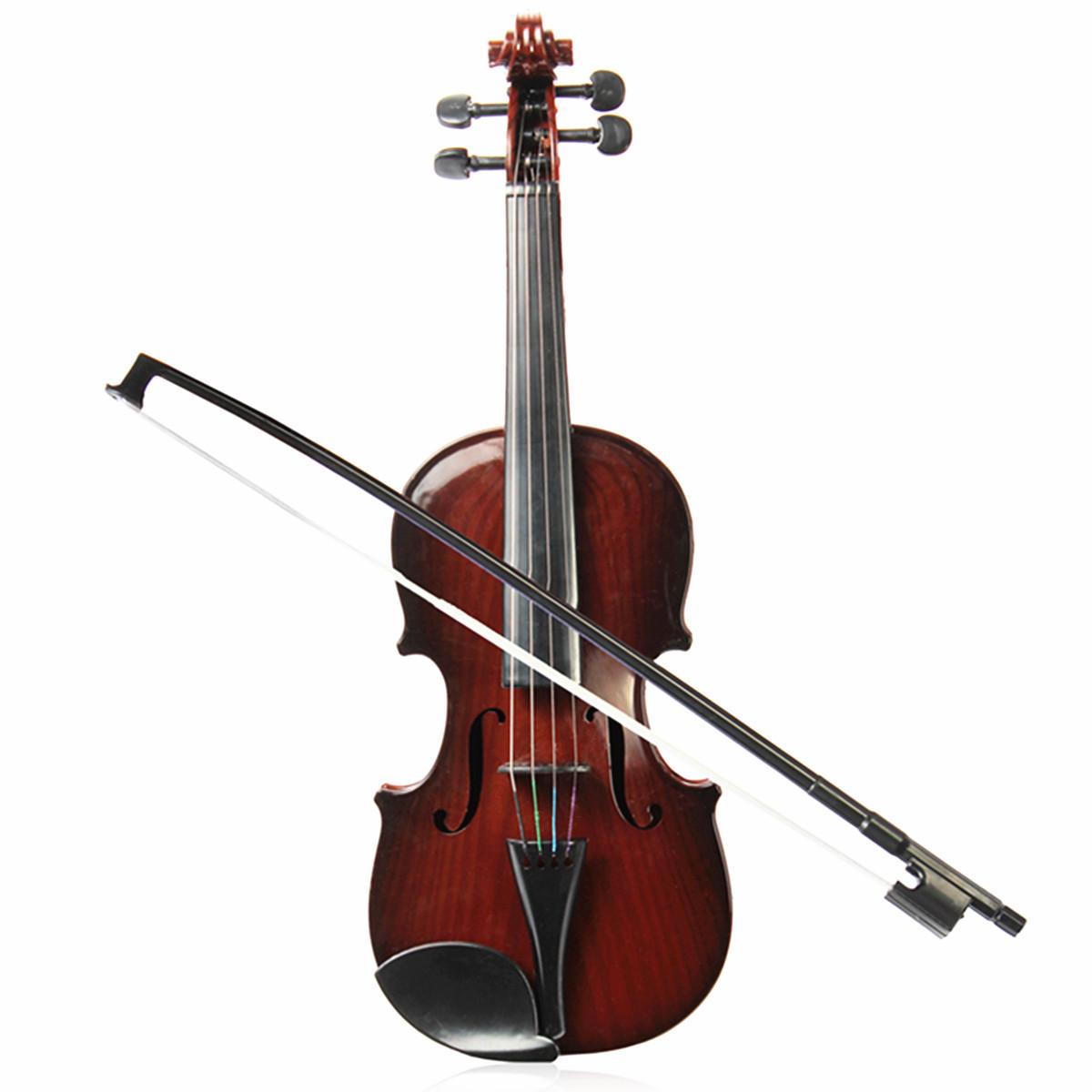 4/4 Ukuran Penuh plástico cuerda ajustable niños instrumento simulación violín juguetes