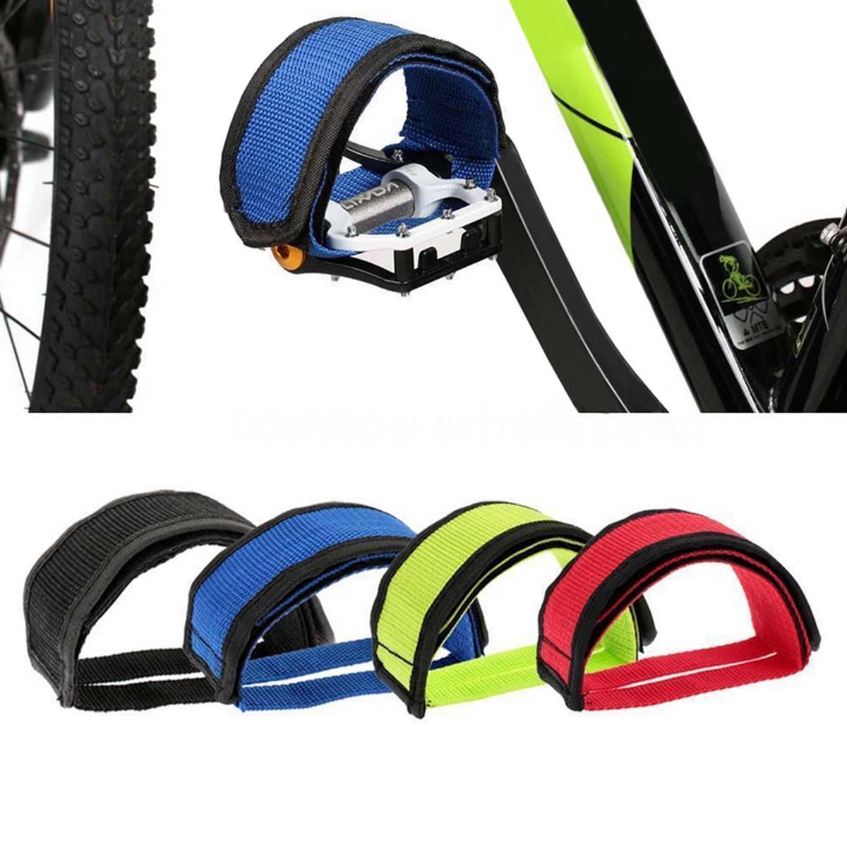 BIKIGHT correas del pedal del pie de la bicicleta de 1 par Cinturón correas del dedo del pie antideslizante del engranaje fijo