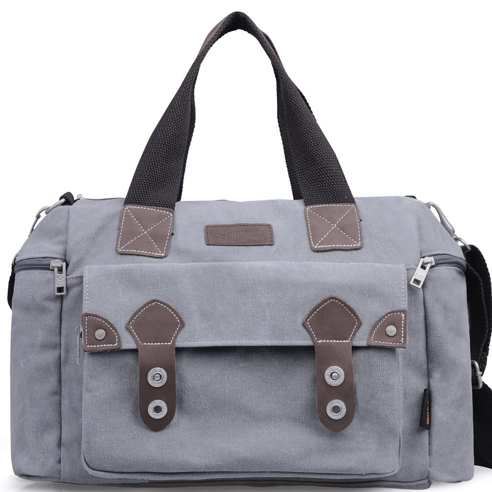 Men Vintage Casual Canvas And Leather Messenger Bag Crossbody Bag