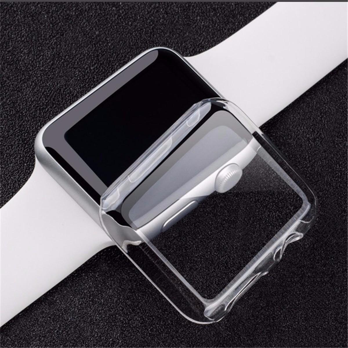 Transparante Clear Thin Hard Clip Op Case Cover Screen Protector Voor 38 / 42mm Apple Watch 1