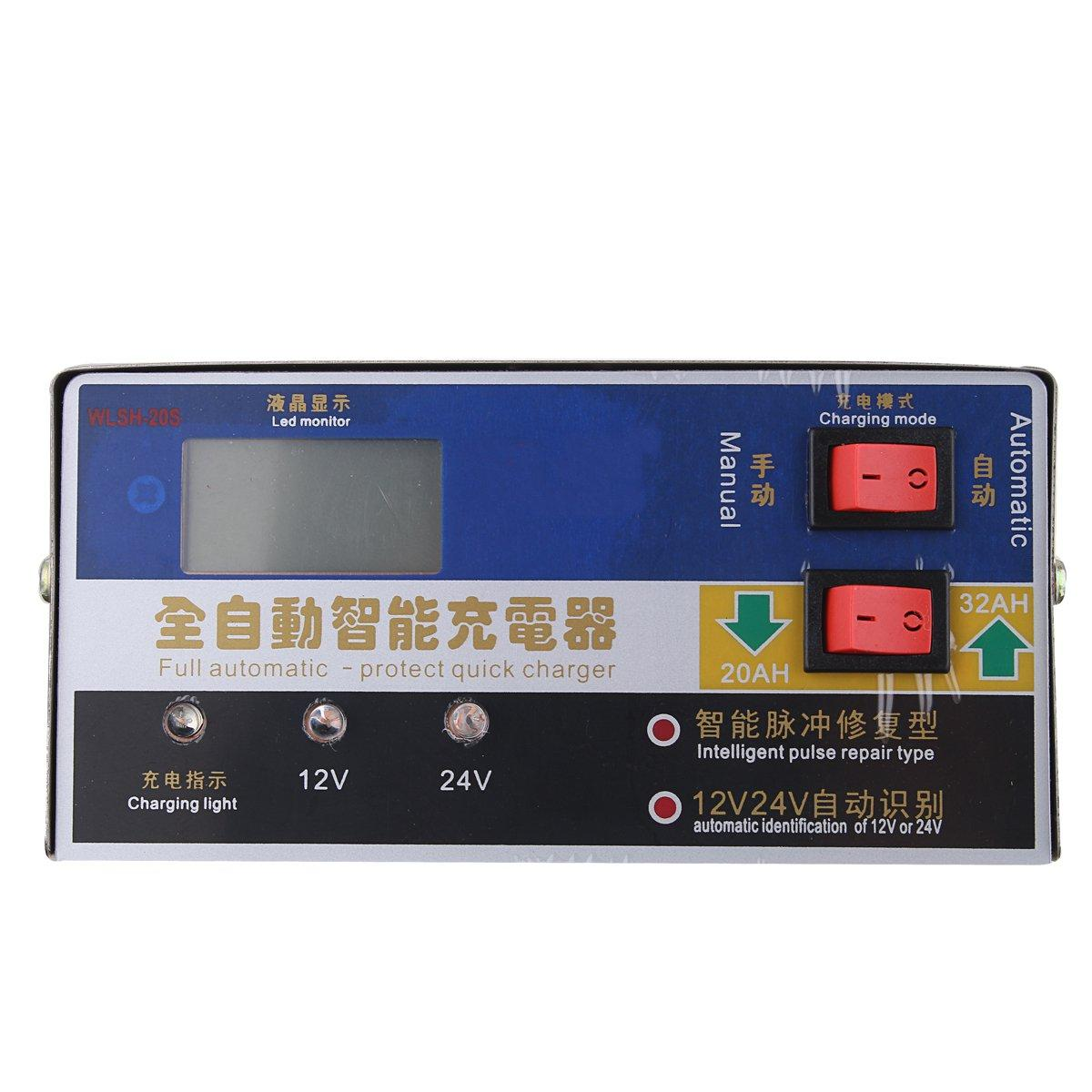 12V / 24V 400W 100AH ​​Full Automatic-Protect Snabb Laddare Smart Pulse Repair