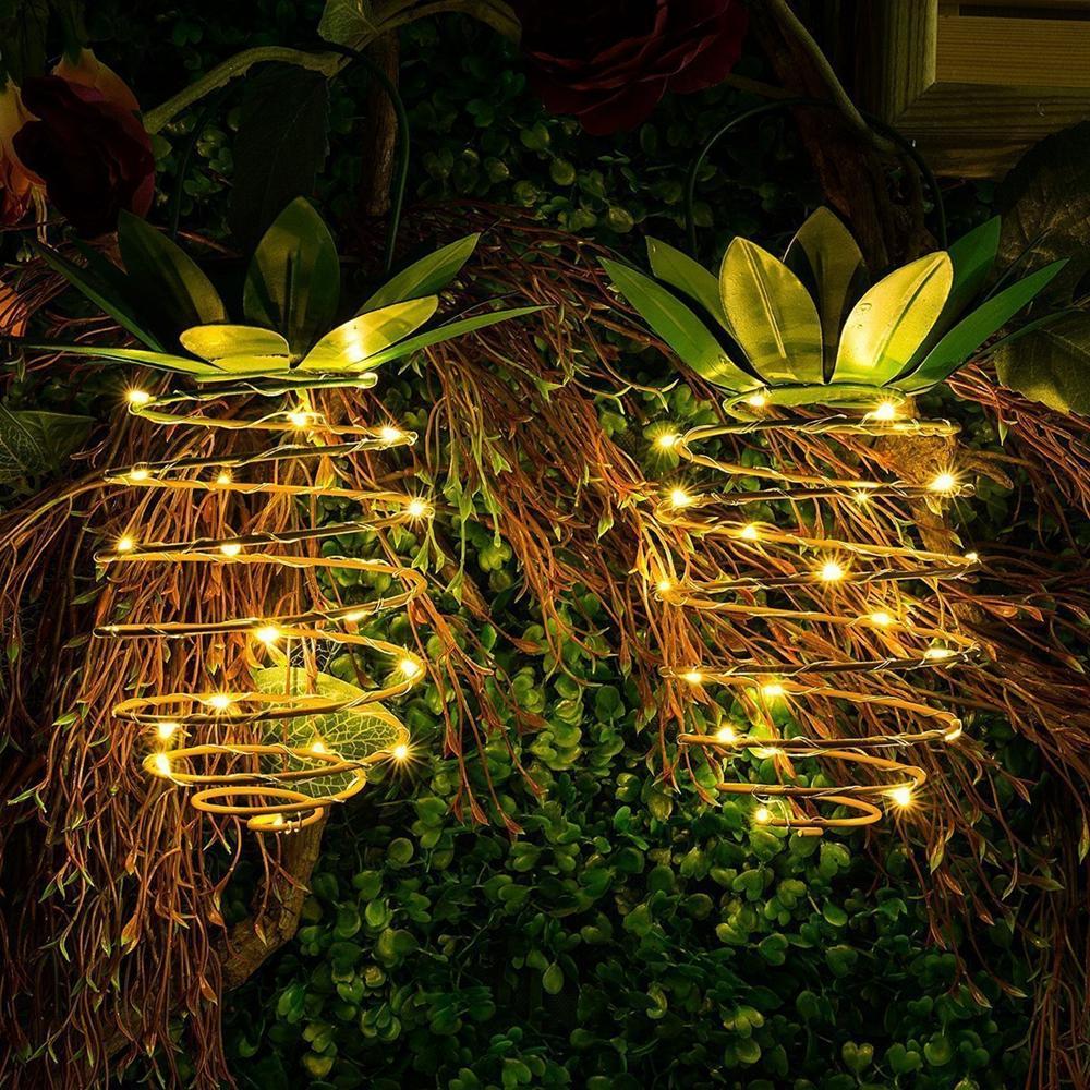 ソーラーパワード25庭園のパスの装飾のための蝶の紐の防水を吊るすパイナップルライト