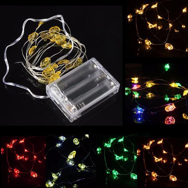 2M 18 LED แบตเตอรี่ ขับเคลื่อนซานตาคลอส String Fairy Light สำหรับงานปาร์ตี้คริสต์มาสตกแต่งแบบ Weddings