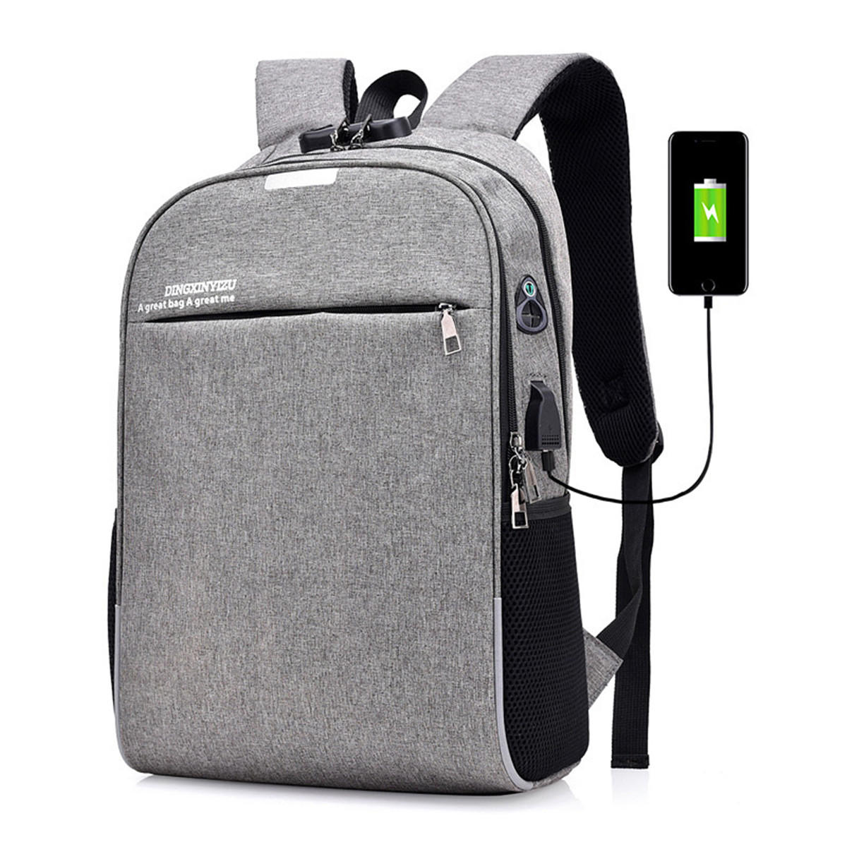 69d3377c9a4 20L Anti-theft Men Laptop Notebook Backpack USB Charging Port School Bag  With Password Lock - Black COD