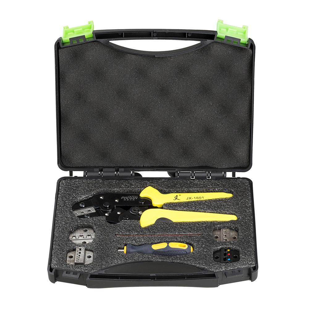 Paron® JX-D5 Pince à Sertir à Cliquet Multifonctions à Dénuder Kit de Pinces à Bornes