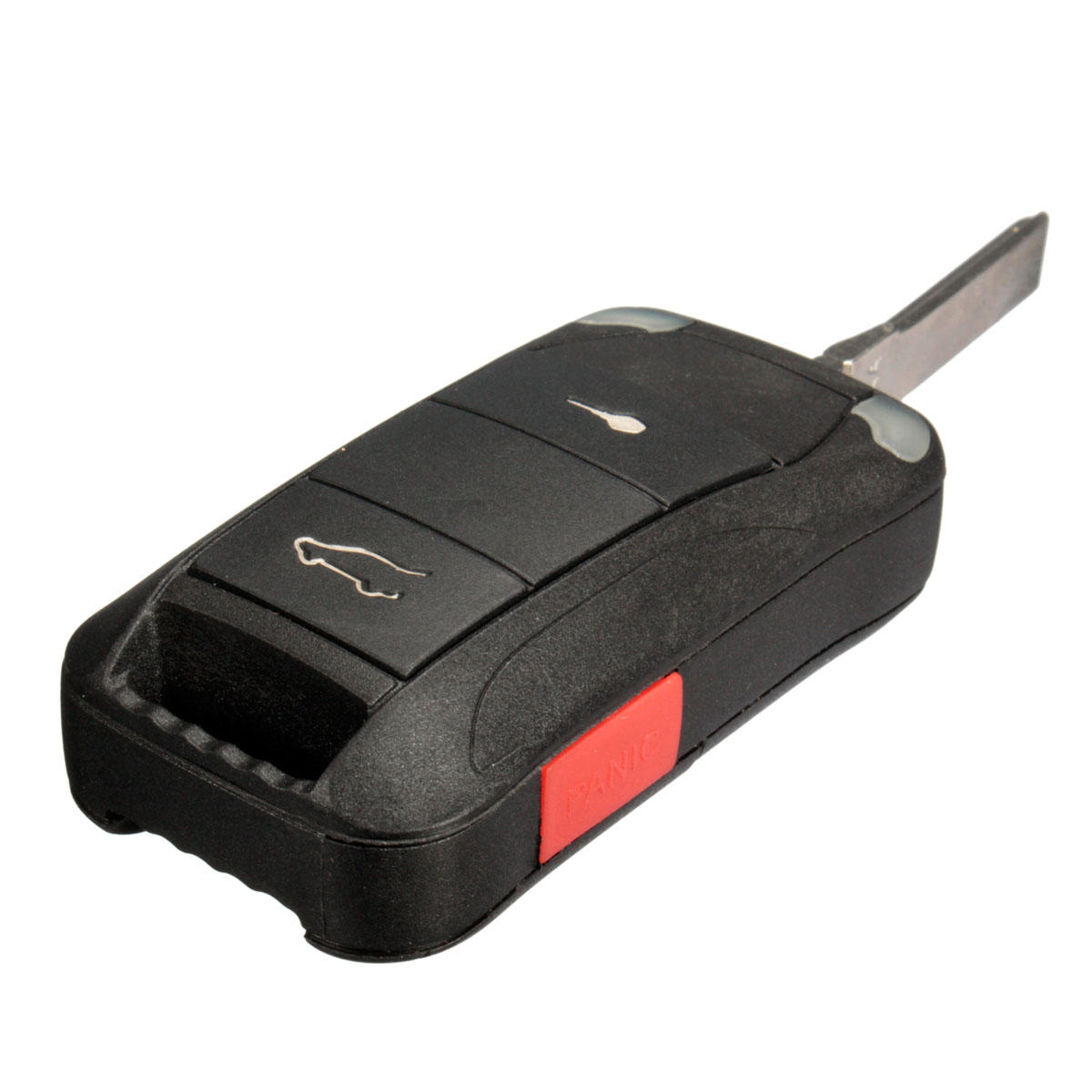 2 On Panic Remote Key Fob Case Shell With Blade For Porsche Cayenne 03 11 Cod