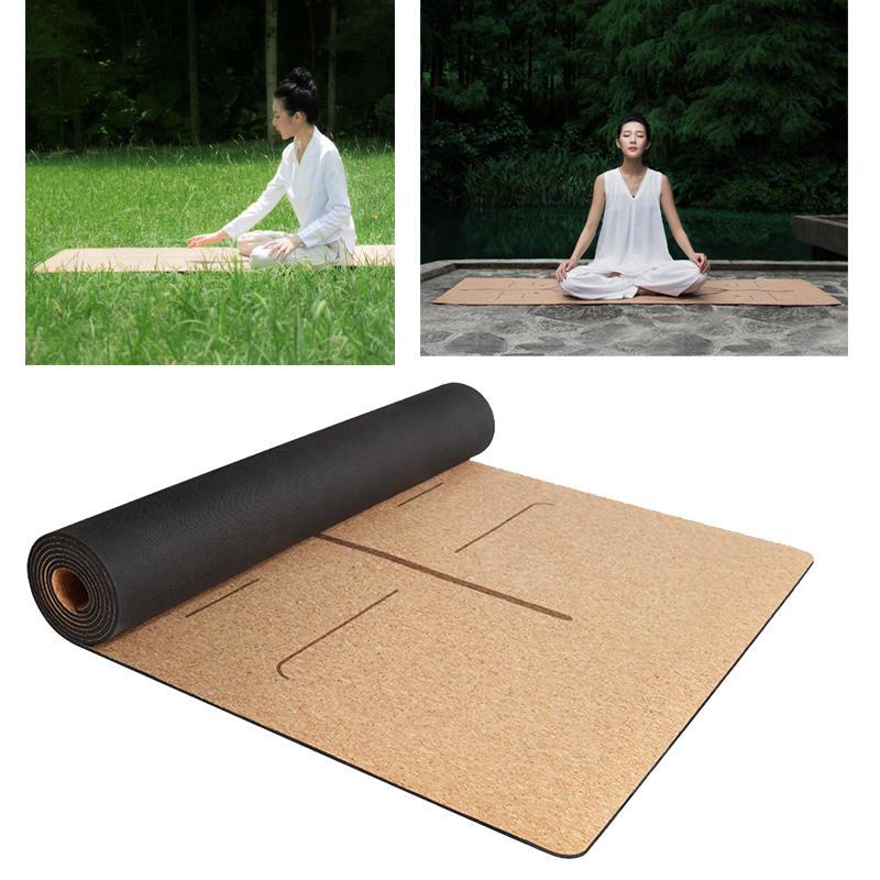 990574e93 XIAOMI YUNMAI 4mm Cortiça De Borracha Natural Yoga Esteiras  Não-deslizamento Exercício Pilates Esportes Yoga