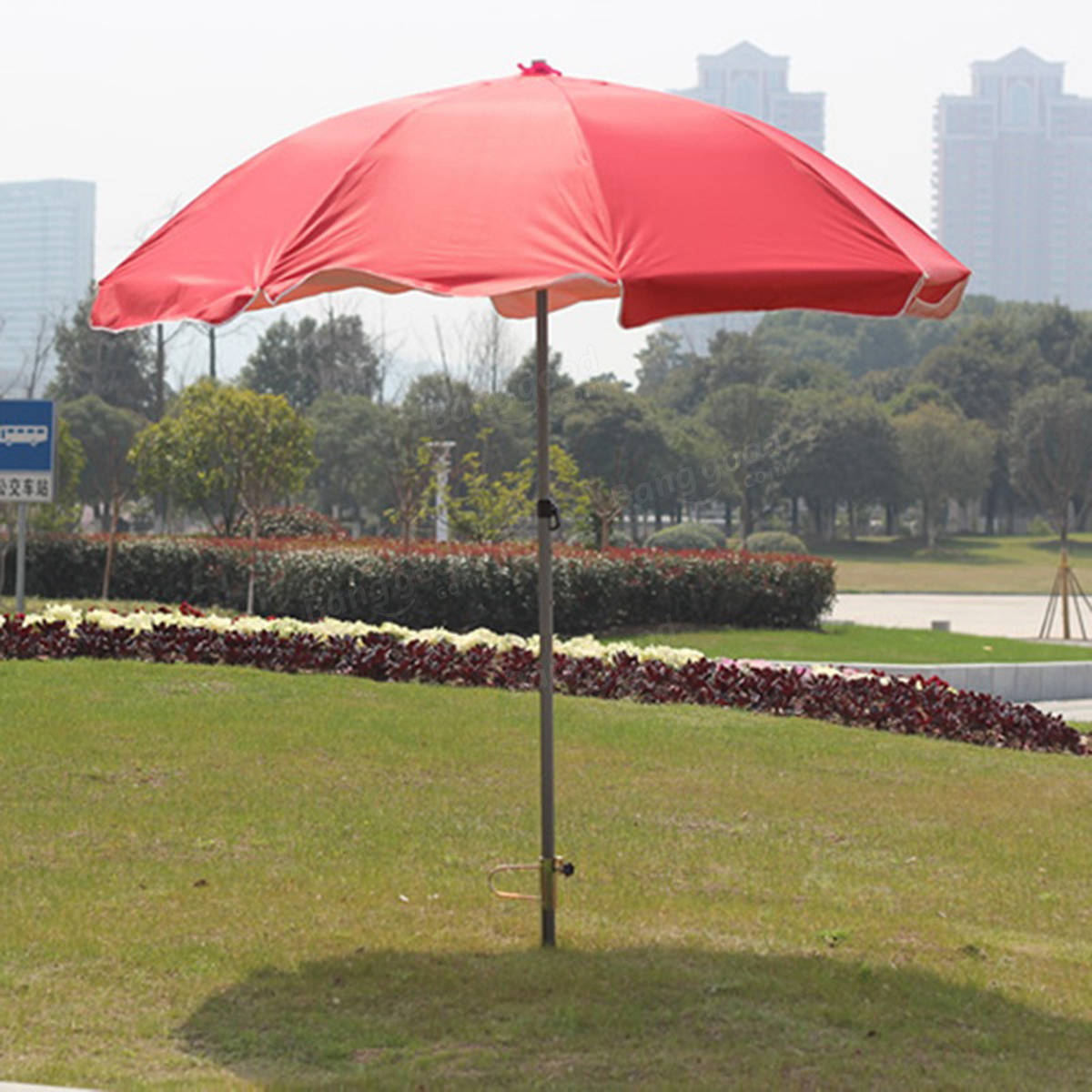 Umbrella Stand For Garden: 40cm Iron Umbrella Stand Pole Holder For Beach Garden