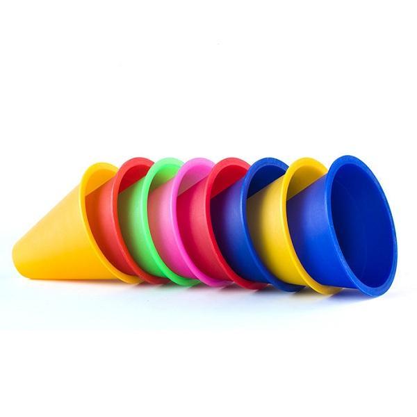 10pcs / lot Training Marking Cones Slalom Skate Pile Cup-Willekeurige Kleur