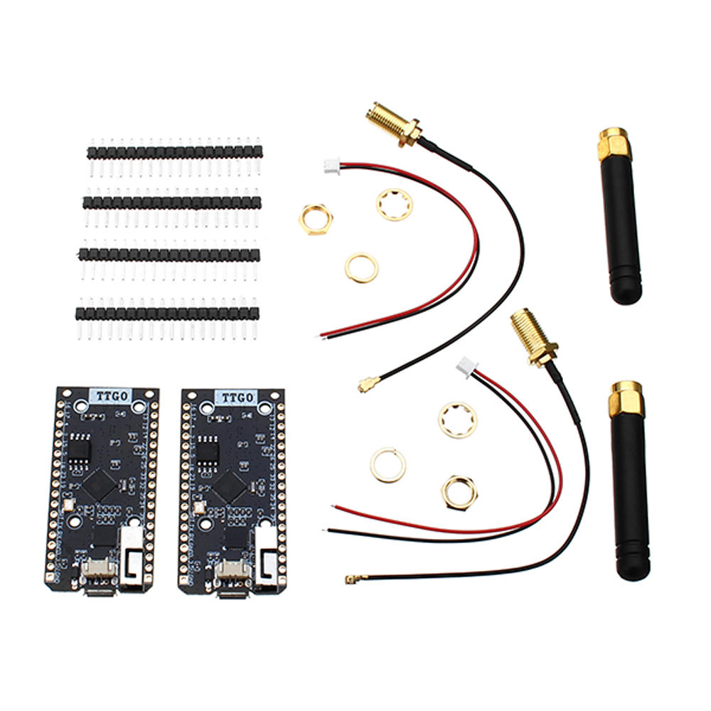 Wemos® TTGO 2Pcs ESP32 SX1276 LoRa 915MHz bluetooth WI-FI Internet Antenna  Development Board For Arduino