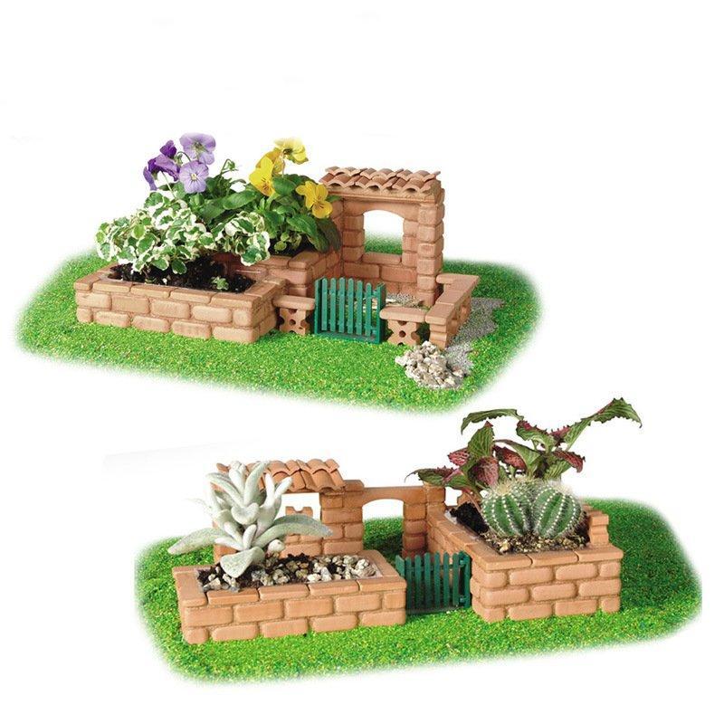 Wisdom Built DIY Model Building Garden Lifelike Bricks Construction Building A House Beach Toy